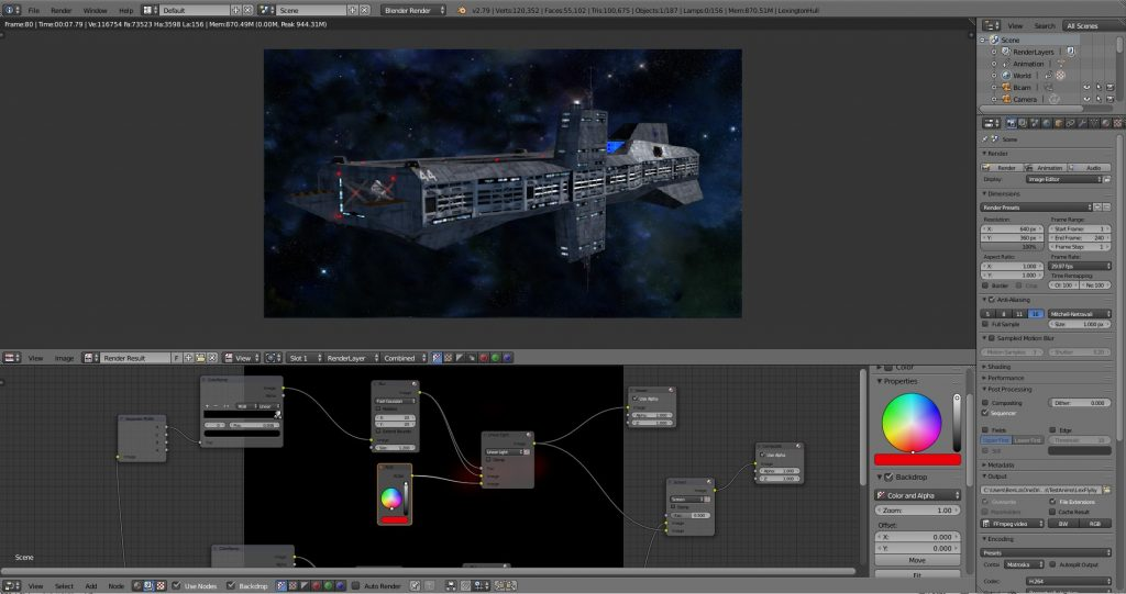 Initial compositor & render stettings